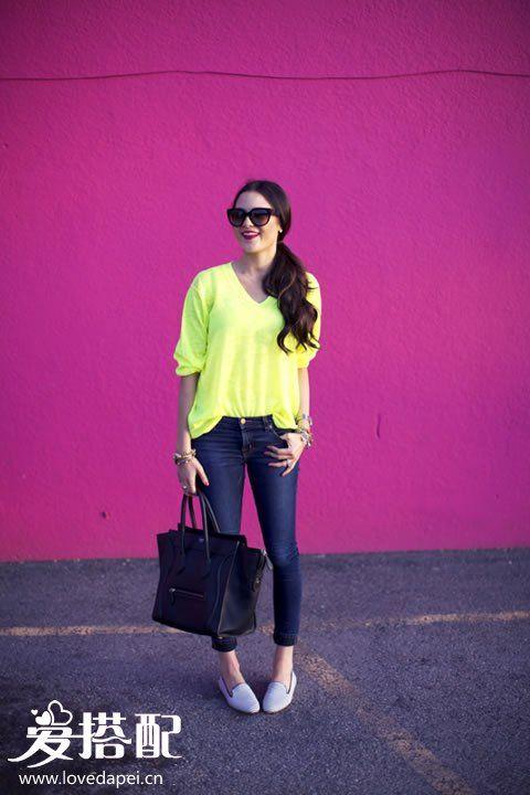 霓虹亮色穿衣,让你的夏季穿衣更吸睛
